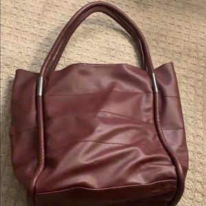 Burgundy tote from Neiman Marcus